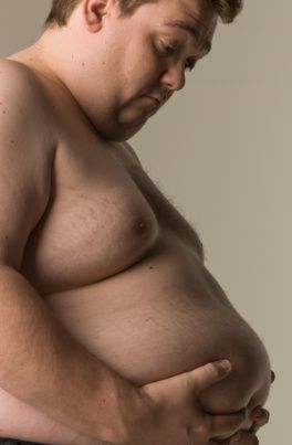men store fat in midsection