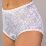 wearever floral fancy incontinence panty